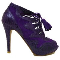 View Item PURPLE SNAKESKIN GLADIATOR ROMAN PLATFORM SHOES SZ 3-8